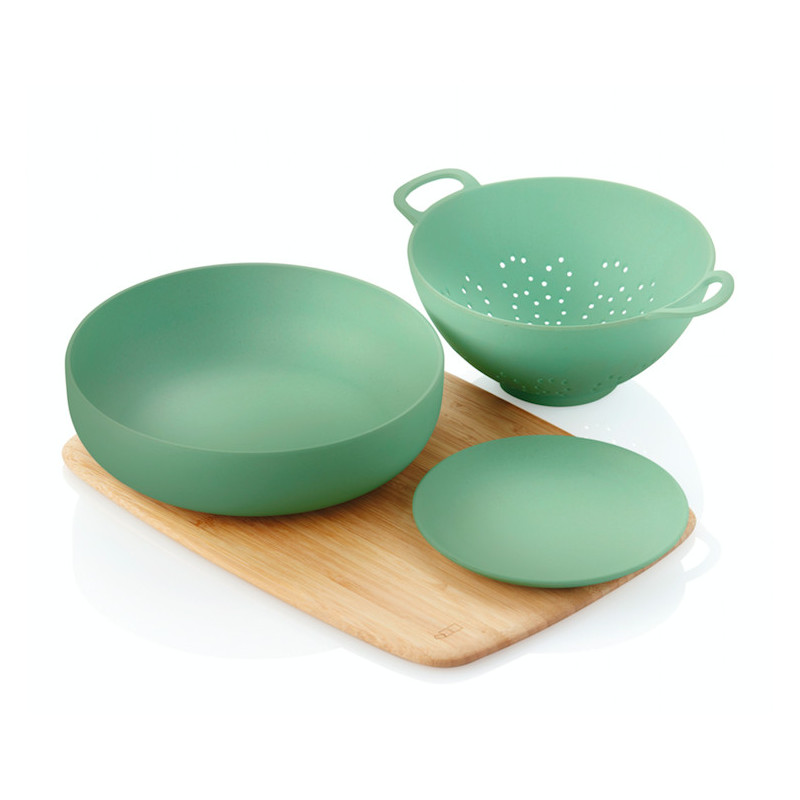 Ontbijtsetje van bordje - ontbijtbowl - minivergiet & broodplankje