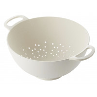 Colander from bamboo fiber white 15 cm