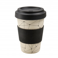 Travel cup made of bamboo fiber