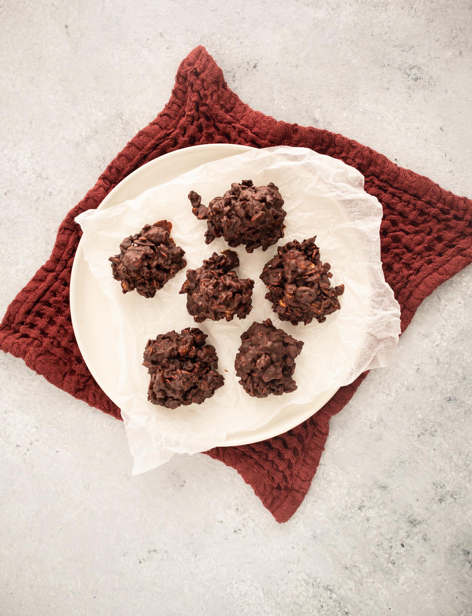 Chocolade rotsjes met XAVIES' Granola