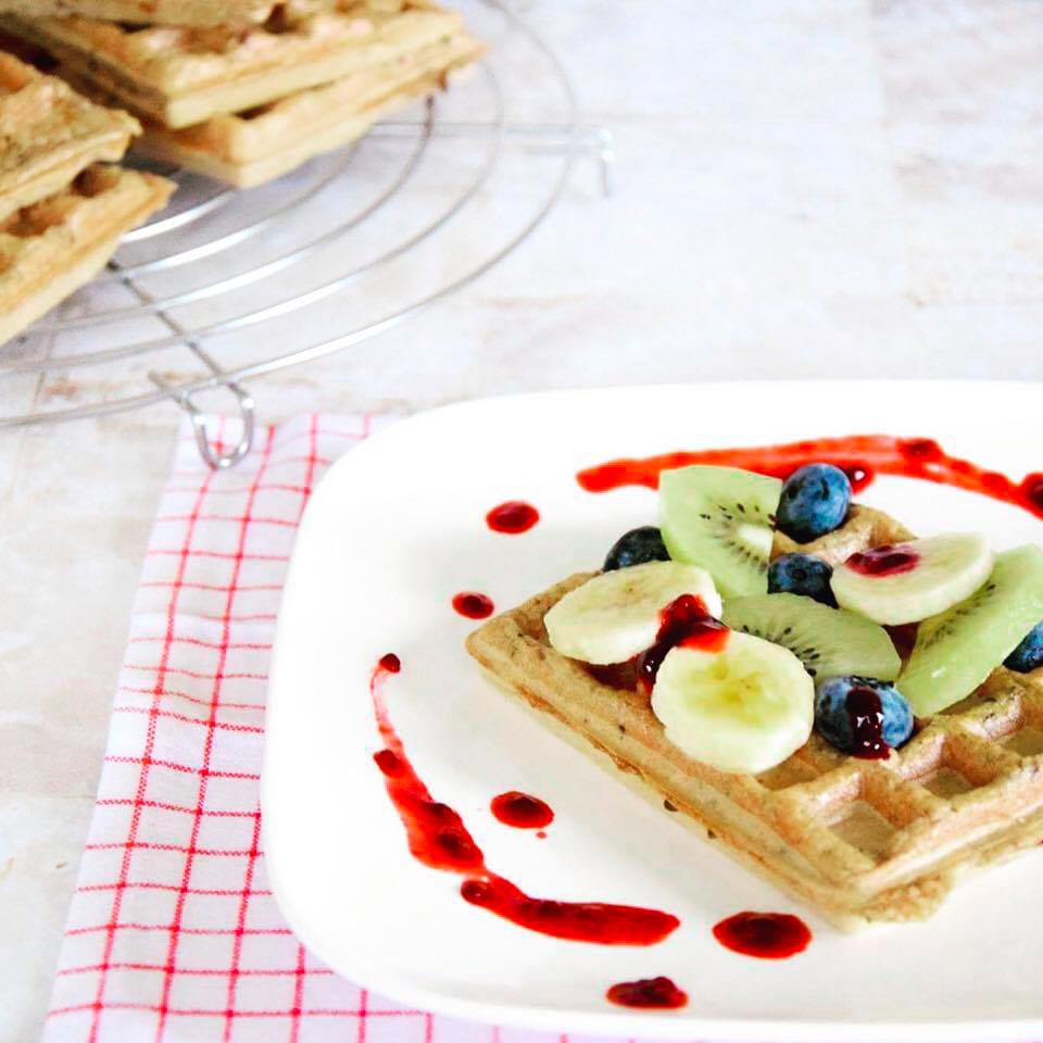 XAVIES' sugar-free granola waffles