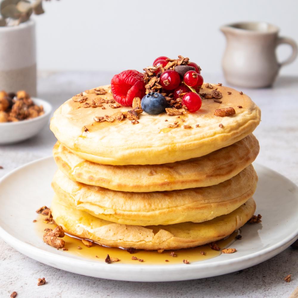 XAVIES' Granola-banana pancakes