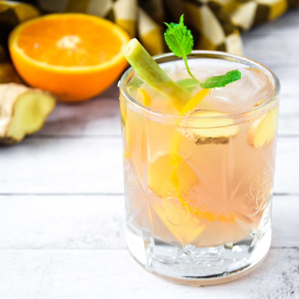 MiniMarieTea Iced Tea with ginger and lemon