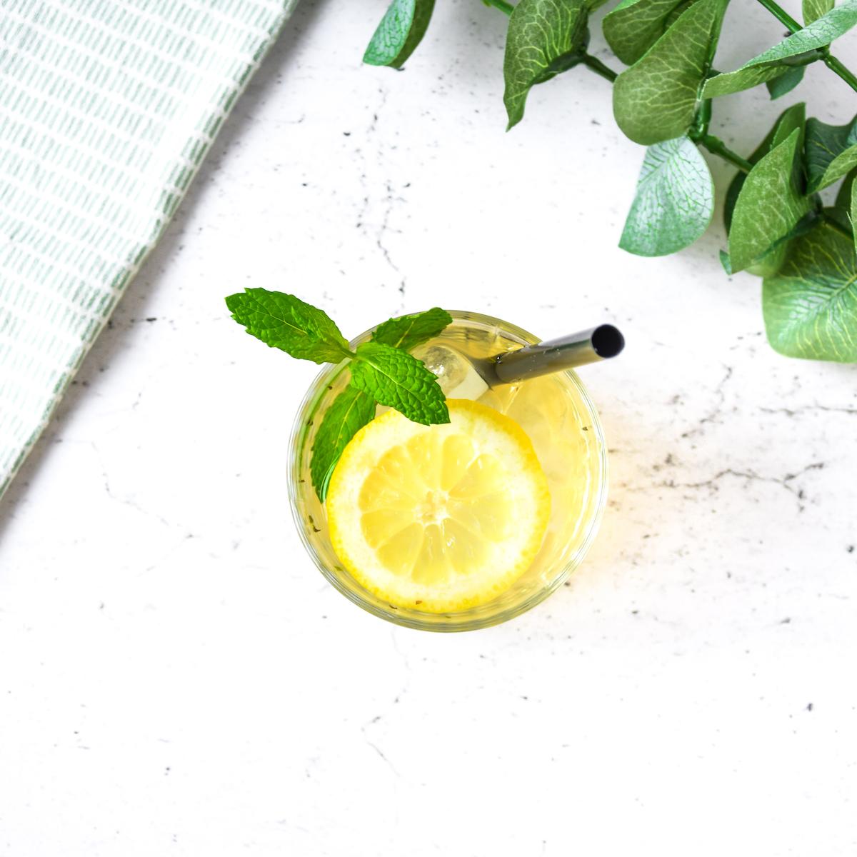 MiniMarieTea Iced Tea with mint and lemon