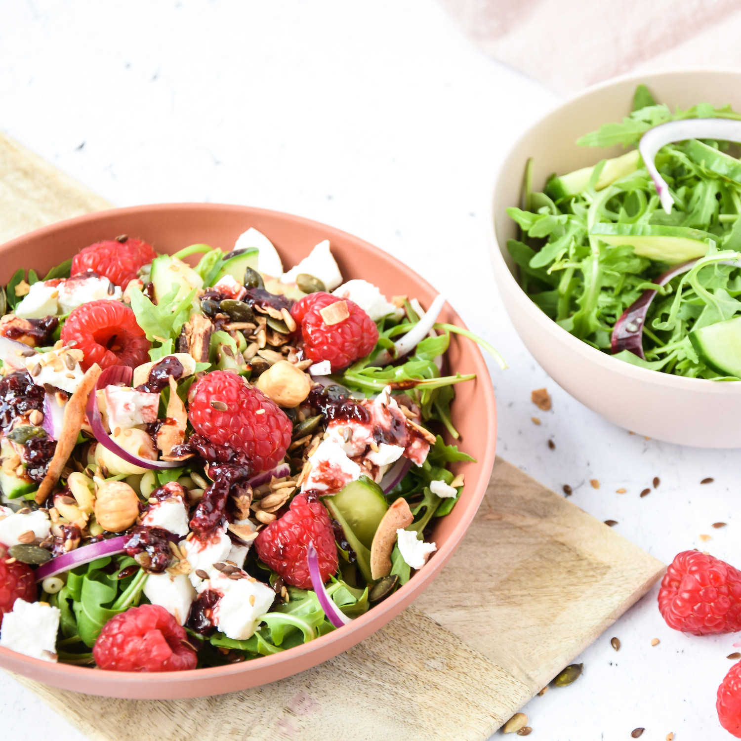 Summery pasta salad with XAVIES' pure toasted nuts & seeds